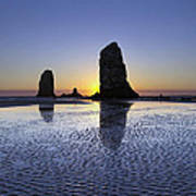 Haystack Needles Rocks At Cannon Beach Art Print