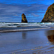 Haystack Rock And The Needles II Print by David Patterson