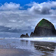 Haystack Rock Iva Print by David Patterson