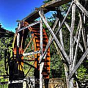 Haywood Cc Grist Mill Wheel Art Print