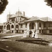 Hazel Hawkins Hospital Monterey Street Hollister California Circa 1907 Art Print