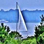 Hazy Day Sail Art Print