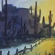 Hazy Mesas Art Print