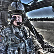 Hdr Image Of A Pilot Equipped Art Print