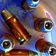 Bullet Art - Hdr Photography Of .32 Caliber Hollow Point Bullets Art 4 Art Print