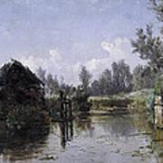 The Lake In Friesland Art Print