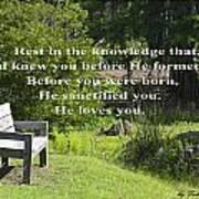 He Sanctified You Art Print