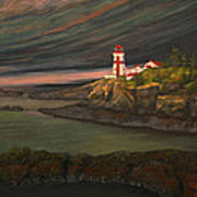 Head Harbour East Quoddy Light Art Print