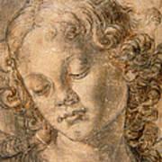 Head Of An Angel Art Print