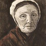 Head Of An Old Woman In A Scheveninger Art Print