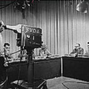 Head Of Production Lowell Cable Cameraman Panel  Kvoa Tv Circa 1955 Color Added 2013 Art Print
