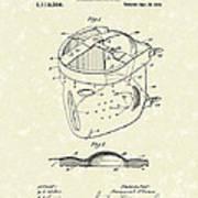Head Protector 1914 Patent Art Art Print