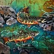 Heading Upstream Art Print