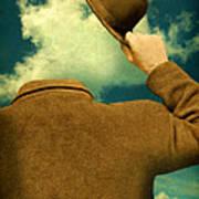 Headless Man With Bowler Hat Art Print