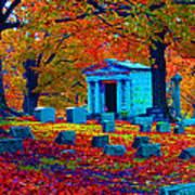 Headstone Fall Art Print