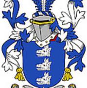 Healey Coat Of Arms Irish Art Print