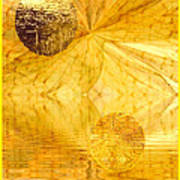 Healing In Golden World Art Print