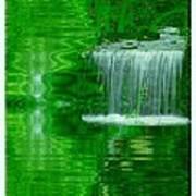 Healing In Green Waters Art Print