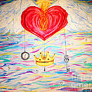 Healing In His Wings  Malachi 4 Art Print