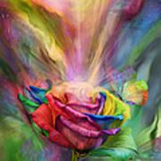 Healing Rose Art Print by Carol Cavalaris