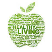 Healthy Living Apple Illustration Art Print