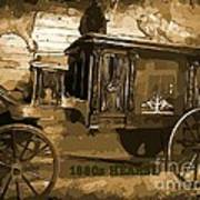 Hearse Poster Art Print by Crystal Loppie