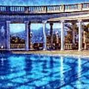 Hearst Castle Pool Art Print