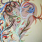 Heart # 124   Prints Available But Original Sold Art Print