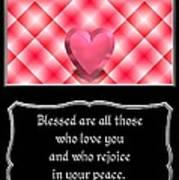 Heart And Love Design 15 With Bible Quote Art Print