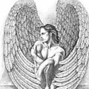 Heart Angel Art Print