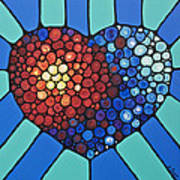 Heart Art - Love Conquers All 2  Art Print
