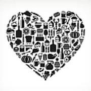 Heart Food & Drink Royalty Free Vector Art Print
