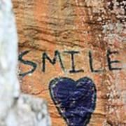 Heart In Sandstone Mountain Art Print