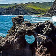 Heart In The Rock Art Print