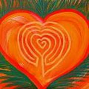Heart Labyrinth Art Print