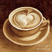 Heart Latte II Art Print