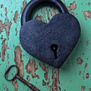 Heart Lock And Key Art Print