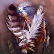 Heart Of A Hawk Art Print by Carol Cavalaris