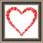Heart Of Hearts II... Art Print