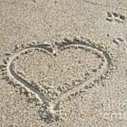 Heart Of Sand Art Print