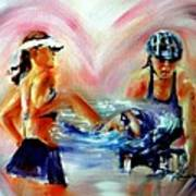 Heart Of The Triathlete Art Print