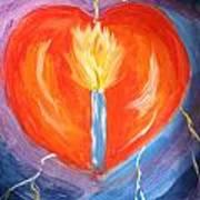 Heart On Fire Art Print