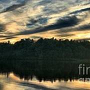 Heart Pond Sunset Art Print