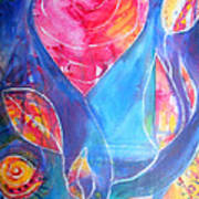 Heart Rose Art Print