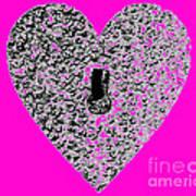 Heart Shaped Lock - Pink Art Print