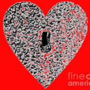 Heart Shaped Lock - Red Art Print