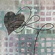 Heart String Abstract- Art  Art Print