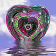 Heart Up Art Print