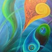 Heart Yin Yang Art Print