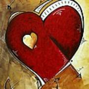 Heartbeat By Madart Art Print